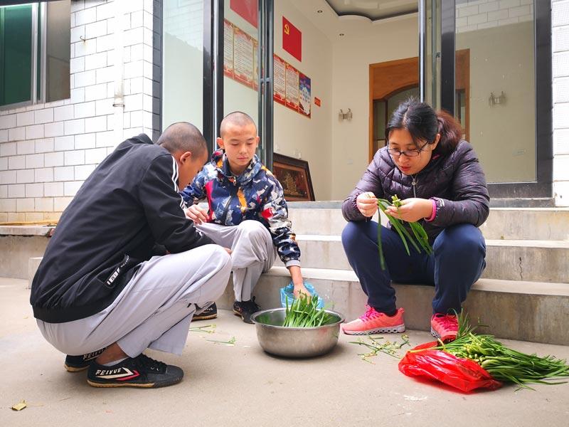 école kung fu repas